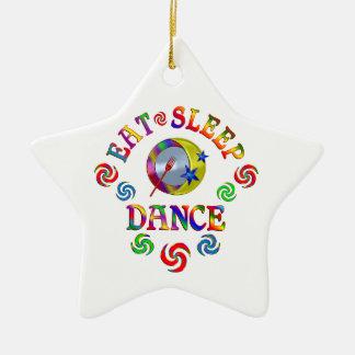 Essen Sie Schlaf-Tanz Keramik Stern-Ornament