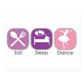 Essen Sie Schlaf-Tanz Postkarte
