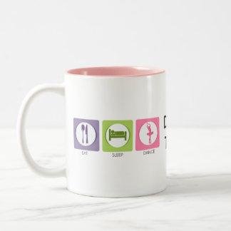 Essen Sie Schlaf-Tanz! Zweifarbige Tasse