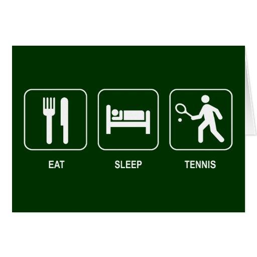 Essen Sie Schlaf-Tennis-Karte