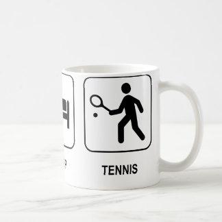 Essen Sie Schlaf-Tennis-Tasse Tasse