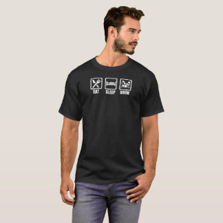 Essen Sie Schlaf-Trommel-Geschenk-T-Stück T-Shirt