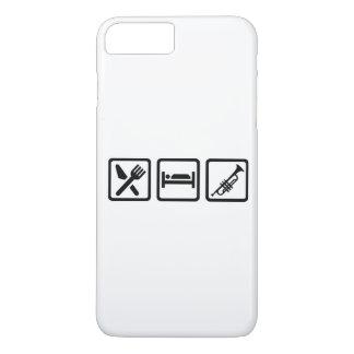 Essen Sie Schlaf-Trompete iPhone 8 Plus/7 Plus Hülle