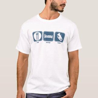 essen Sie Schlaf Tuba T-Shirt