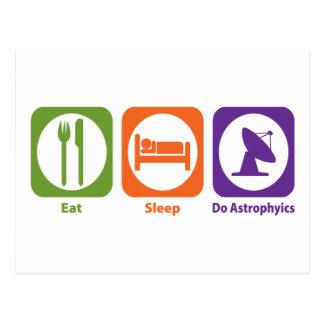 Essen Sie Schlaf tun Astrophyics Postkarte