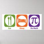 Essen Sie Schlaf tun Mathe Plakatdruck