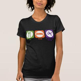 Essen Sie Schlaf tun Molekularbiologie T-Shirt