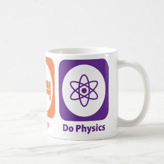 Essen Sie Schlaf tun Physik Kaffeetasse