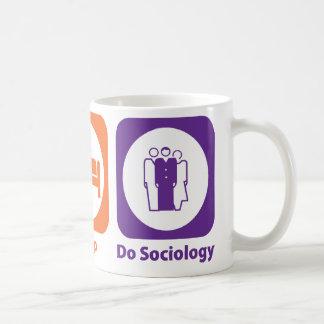 Essen Sie Schlaf tun Soziologie Kaffeetasse