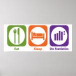 Essen Sie Schlaf tun Statistiken Poster