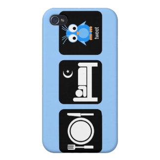 essen Sie Schlaf tweeten Hülle Fürs iPhone 4