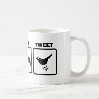 Essen Sie Schlaf tweeten Kaffeetasse