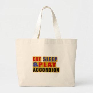 Essen Sie Schlaf und Spiel AKKORDEON Jumbo Stoffbeutel
