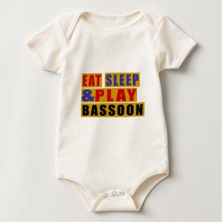 Essen Sie Schlaf und Spiel BASSOON Baby Strampler