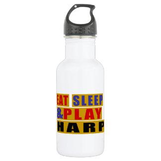 Essen Sie Schlaf und Spiel HARFE Edelstahlflasche