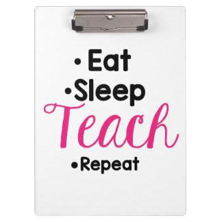 Essen Sie Schlaf unterrichten