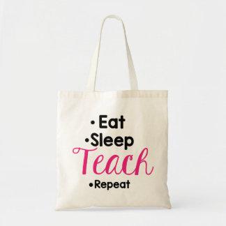 Essen Sie Schlaf unterrichten Tragetasche