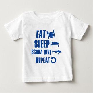 Essen Sie Schlaf Unterwasseratemgerät-Tauchen Baby T-shirt