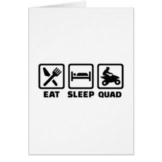Essen Sie Schlaf Viererkabel Karte