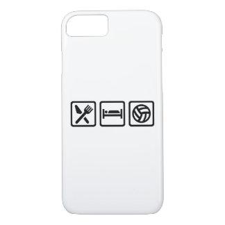 Essen Sie Schlaf-Volleyball iPhone 8/7 Hülle