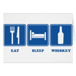 Essen Sie Schlaf-Whisky Grußkarte