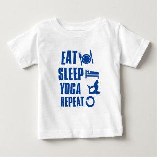 Essen Sie Schlaf Yoga Baby T-shirt