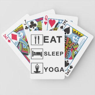 Essen Sie Schlaf-Yoga Bicycle Spielkarten