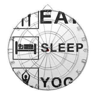 Essen Sie Schlaf-Yoga Dartscheibe
