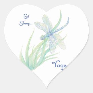 Essen Sie Schlaf-Yoga, Herz-Aufkleber
