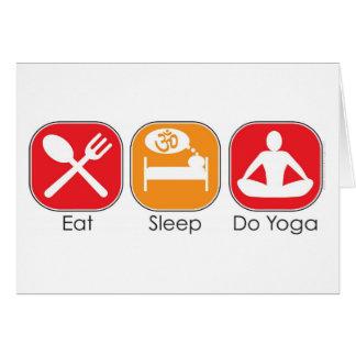 Essen Sie Schlaf-Yoga Grußkarten