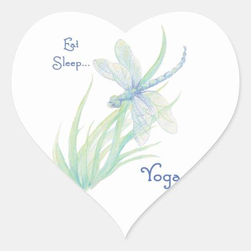 Essen Sie Schlaf-Yoga, Spaß-Sprichwortwatercolor-L Sticker