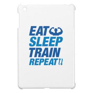 Essen Sie Schlaf-Zug-Wiederholung iPad Mini Hüllen