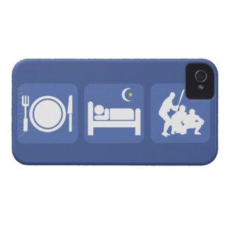 essen Sie Schlafbaseball iPhone 4 Hüllen