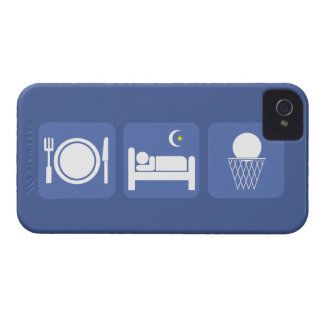 essen Sie Schlafbasketball iPhone 4 Case-Mate Hülle