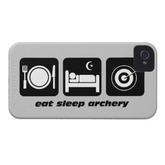 essen Sie Schlafbogenschießen iPhone 4 Etuis