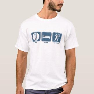 essen Sie Schlafbogenschießen T-Shirt