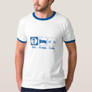 essen Sie Schlafcode (HTML) T-shirt