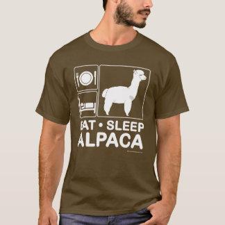 Essen Sie, schlafen Sie, Alpaka T-Shirt