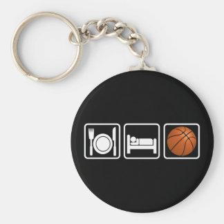 Essen Sie, schlafen Sie, Basketball Standard Runder Schlüsselanhänger