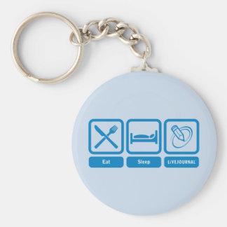 Essen Sie, schlafen Sie, LiveJournal Schlüsselanhänger