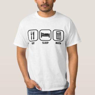 ESSEN SIE, SCHLAFEN SIE, MATHE T-Shirt