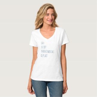 """""""Essen Sie, schlafen Sie, Narrowboat, der T - T-Shirt"""