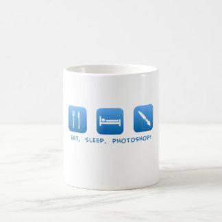 Essen Sie, schlafen Sie, Photoshop Kaffeetasse