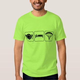 Essen Sie, schlafen Sie, PPG - Front u. Rückseite T-Shirts