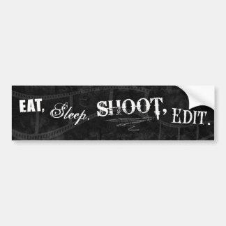 Essen Sie, schlafen Sie, schießen Sie, redigieren