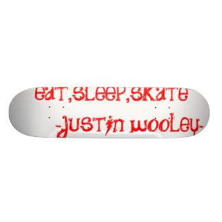 essen Sie, schlafen Sie, Skate       - Justin wool 20,1 Cm Skateboard Deck