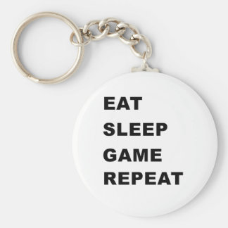 Essen Sie, schlafen Sie, Spiel, Wiederholung Standard Runder Schlüsselanhänger