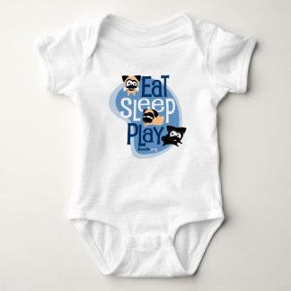 Essen Sie, schlafen Sie, spielen Sie! Kleid (blau)