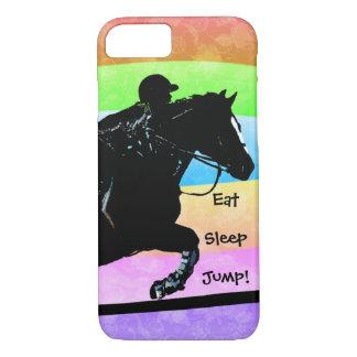 Essen Sie, schlafen Sie, springen Sie Pferd iPhone 8/7 Hülle
