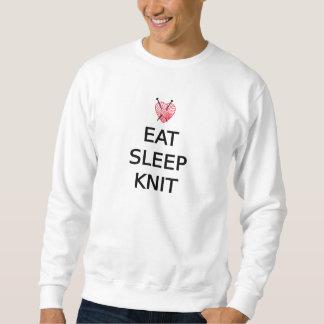 Essen Sie, schlafen Sie, Strick mit Herz geformtem Sweatshirt